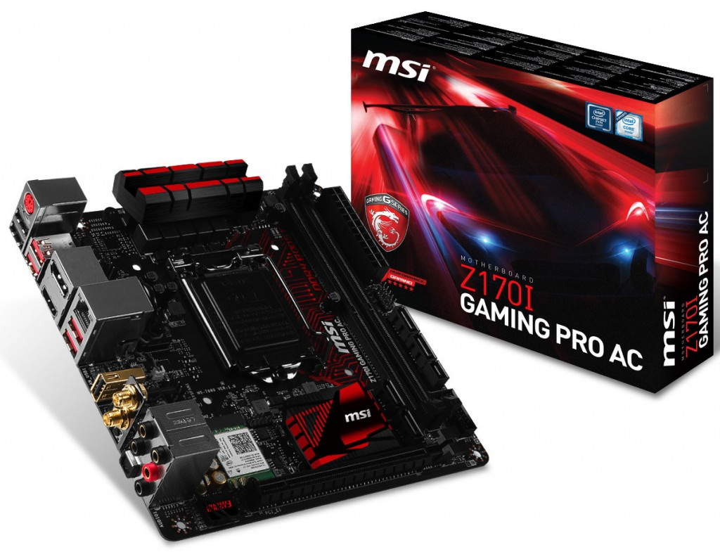 MSI Launches the Z170I Gaming Pro AC Mini-ITX Motherboard