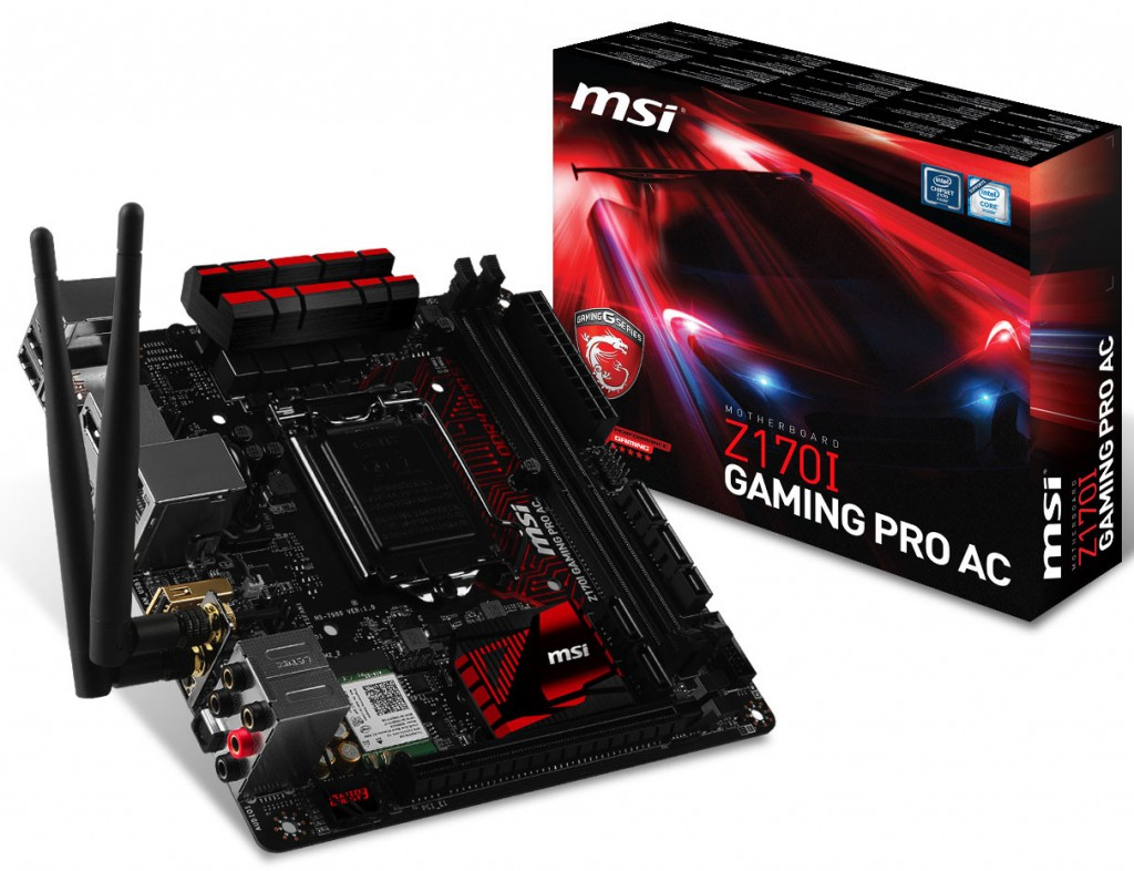 MSI Announces Z170I Gaming Pro AC and B150M night Elf Motherboard
