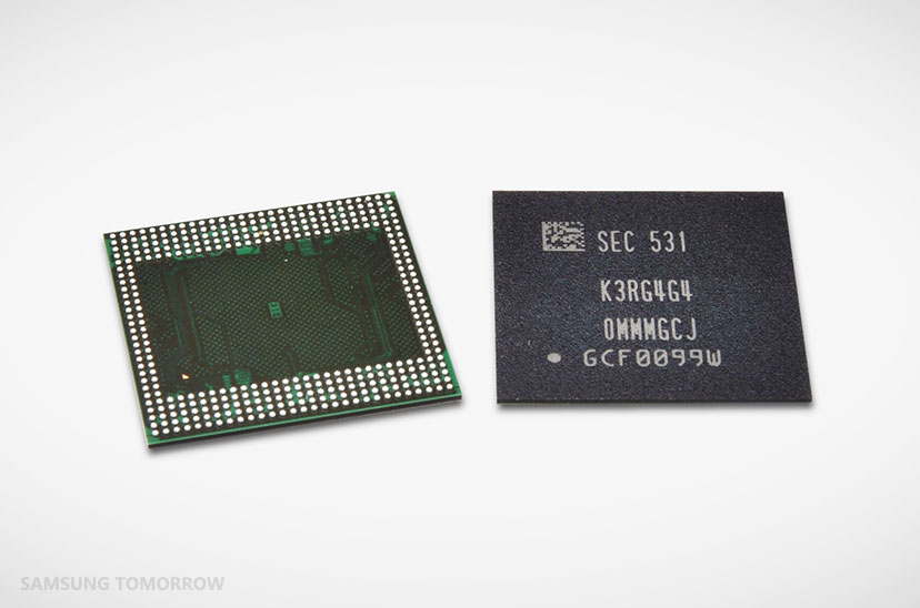 Samsung has developed the industry's first 12GB LPDDR4 DRAM modules