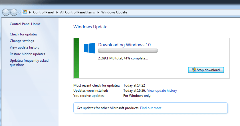 Windows 10 install files has been downloaded without users permission