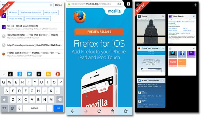 Firefox now available for iPhone, iPad, iPod Touch