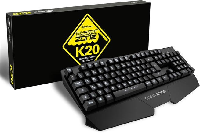 Sharkoon Announces SHARK ZONE K20 Gaming Keyboard