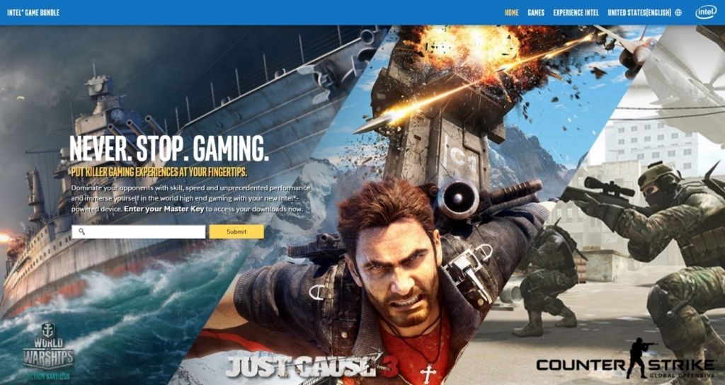 Intel Enthusiast Game Bundle With Select Core Series Processor