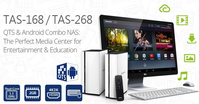 QNAP Launches QTS-Android Combo NAS TAS-168 and TAS-268
