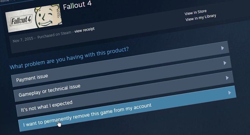 Steam Finally Adds Option To Delete Games Permanently From Your Library