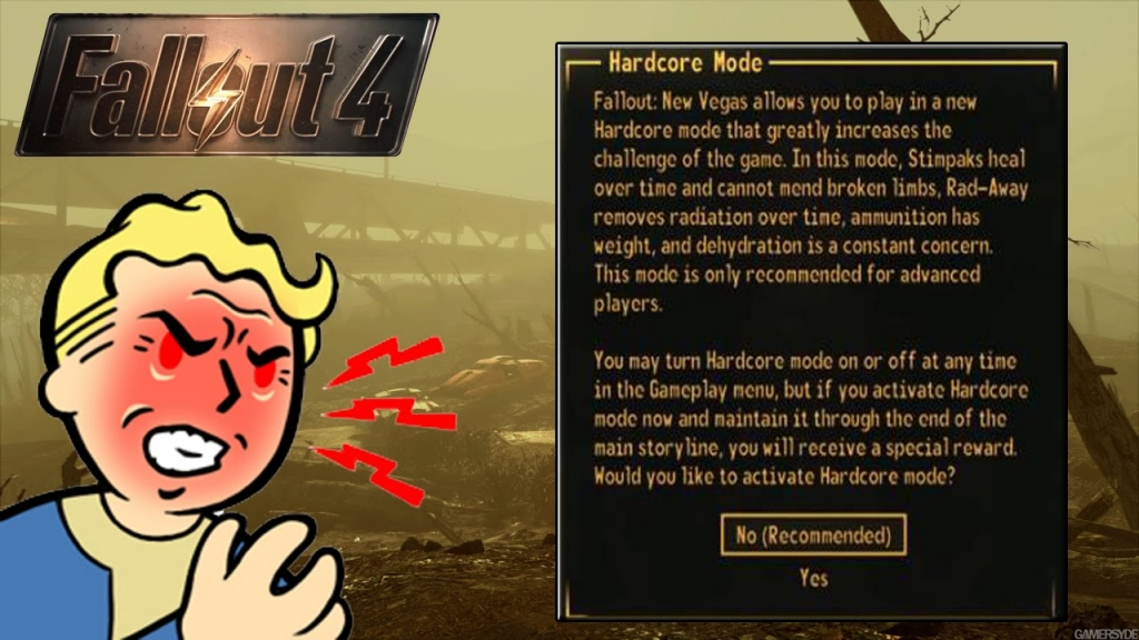 Fallout 4's new Survival Mode
