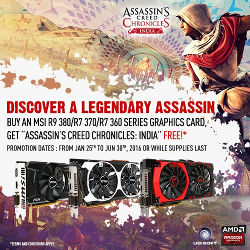 MSI bundle Assassins Creed Chronicles India