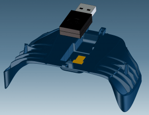 CAD 3D Model of Steam Controller 1