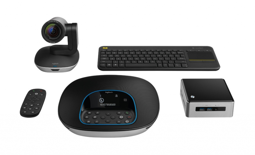 Logitech ConferenceCam Kit with Intel NUC