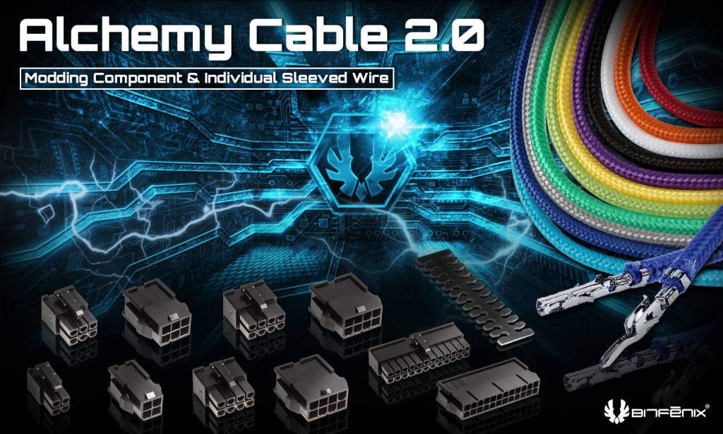 Alchemy 2.0 sleeving components & modular cables
