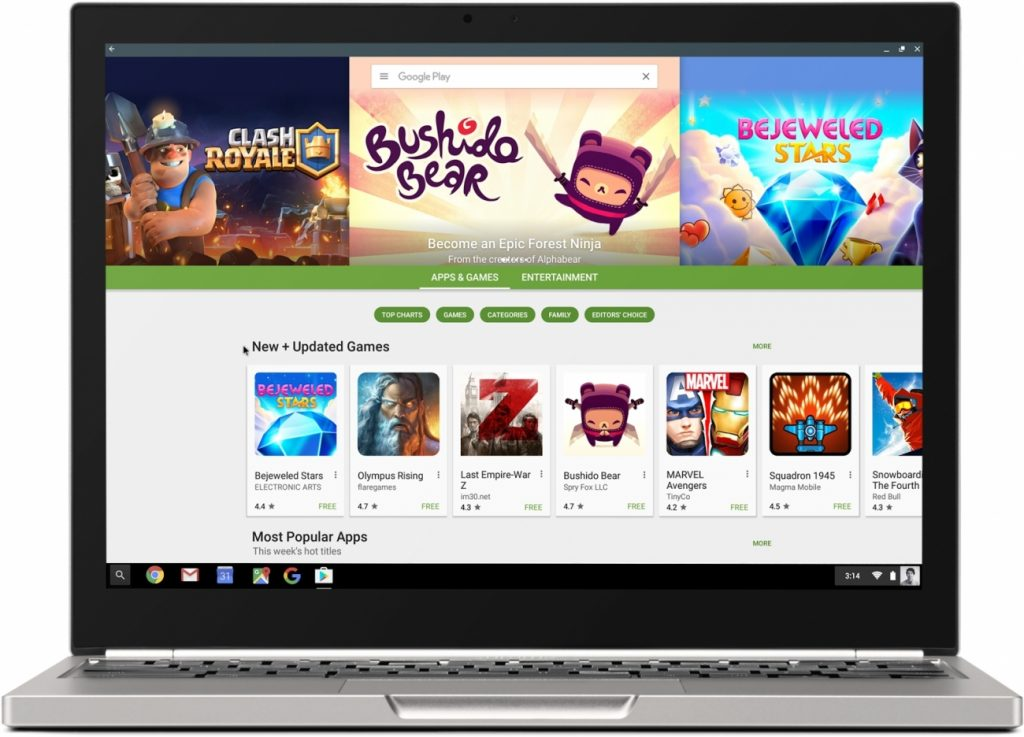Google Play store on Chromebook