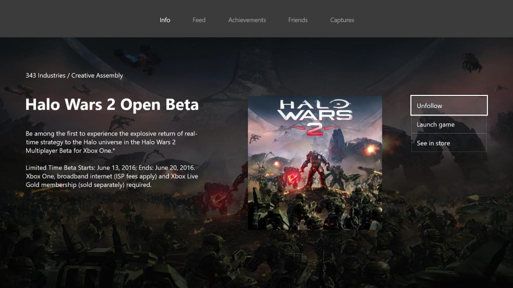 Halo Wars 2 beta