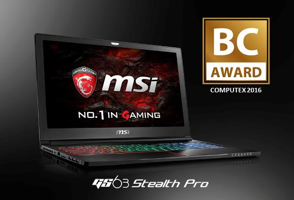 MSI GS63 Stealth Pro