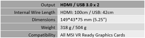 MSI VR BOOST KIT 2