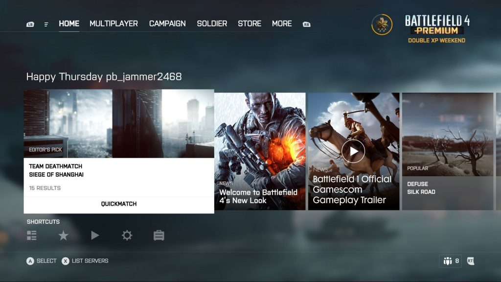 new Battlefield interface