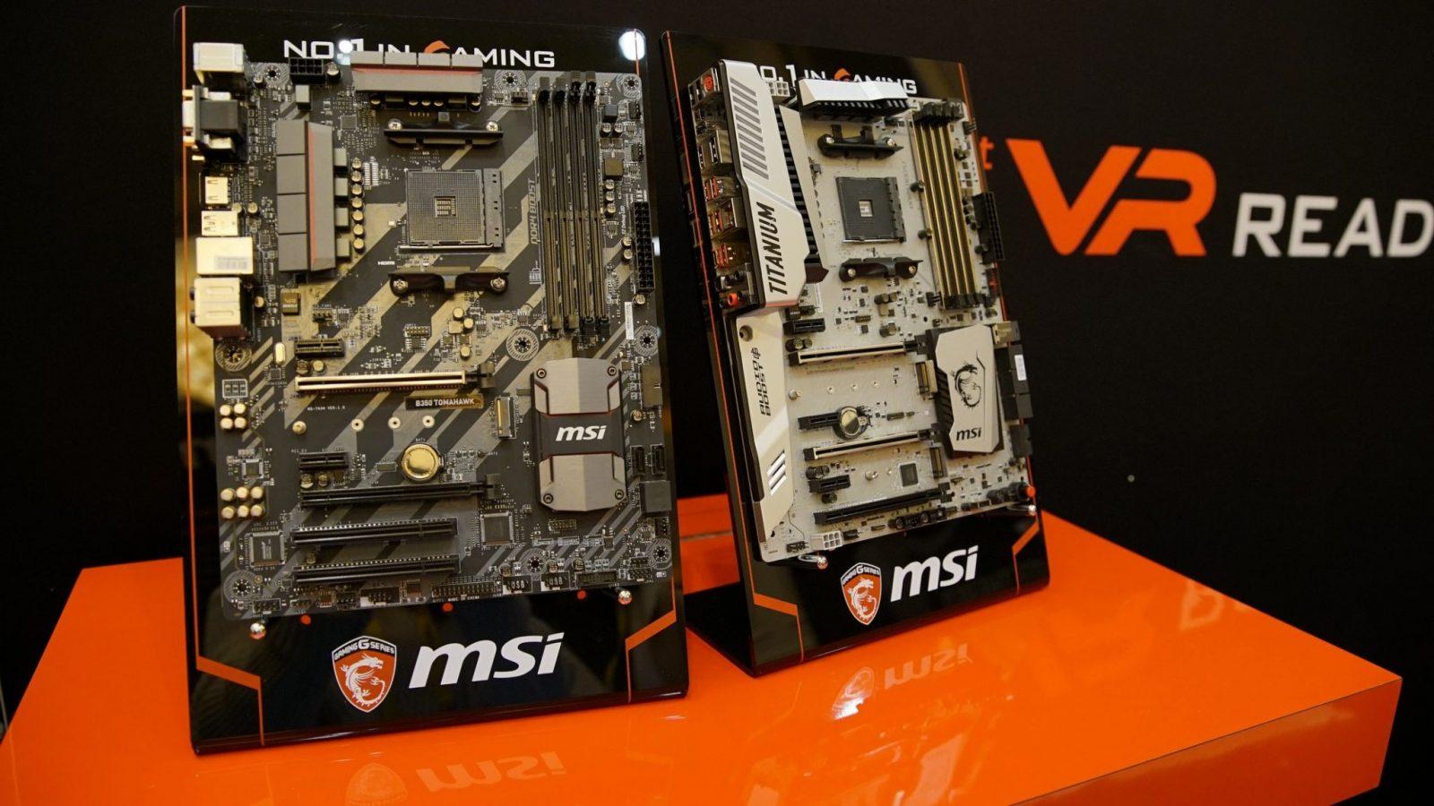 MSI AM4 B350 Tomahawk and X370 XPOWER Gaming Titanium spotted at CES 2017