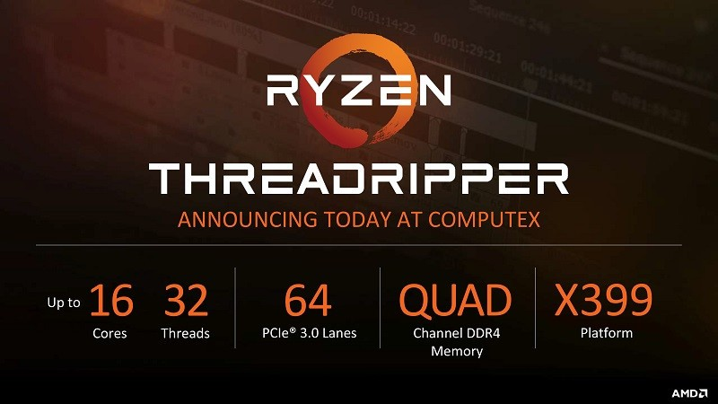 AMD Threadripper 1950X 16-core spotted on Geekbench database