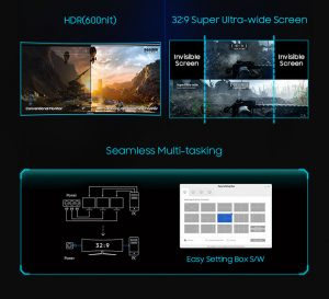 Samsung unveils three new HDR-ready FreeSync 2 gaming monitors with top model having a 49-inch 32:9 aspect ratio display