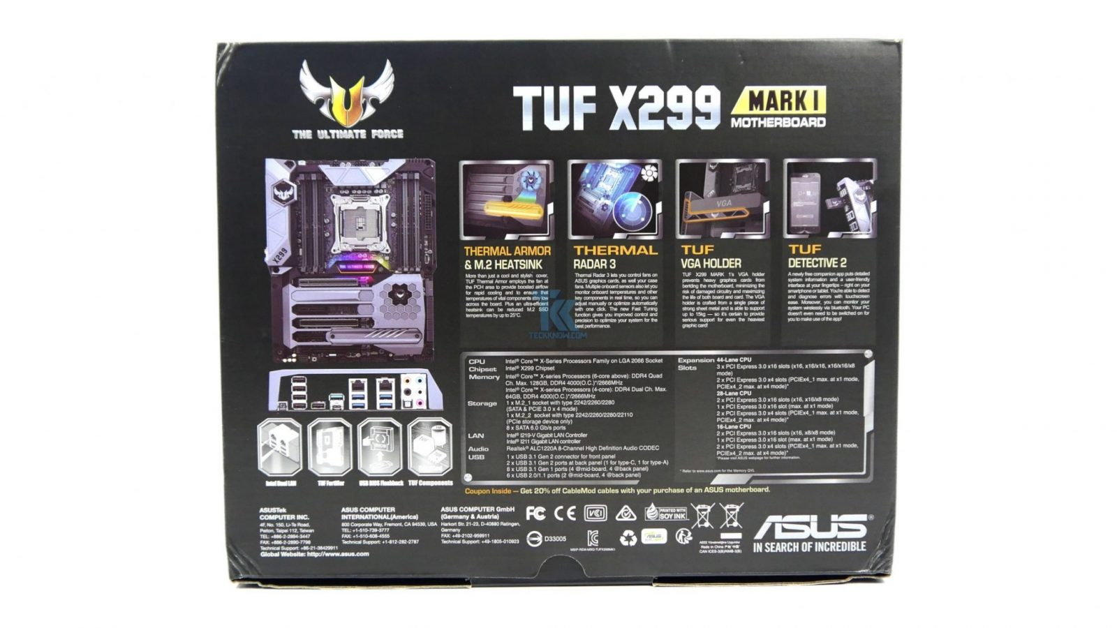 Asus Tuf X299 Mark 1 Motherboard Review