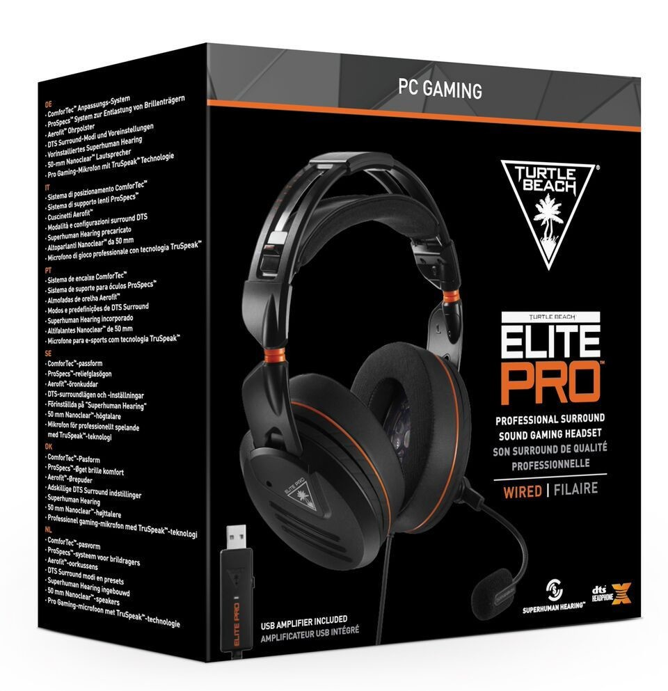 Turtle Beach Announces Availability of New 'Elite Pro - PC Edition' Headset