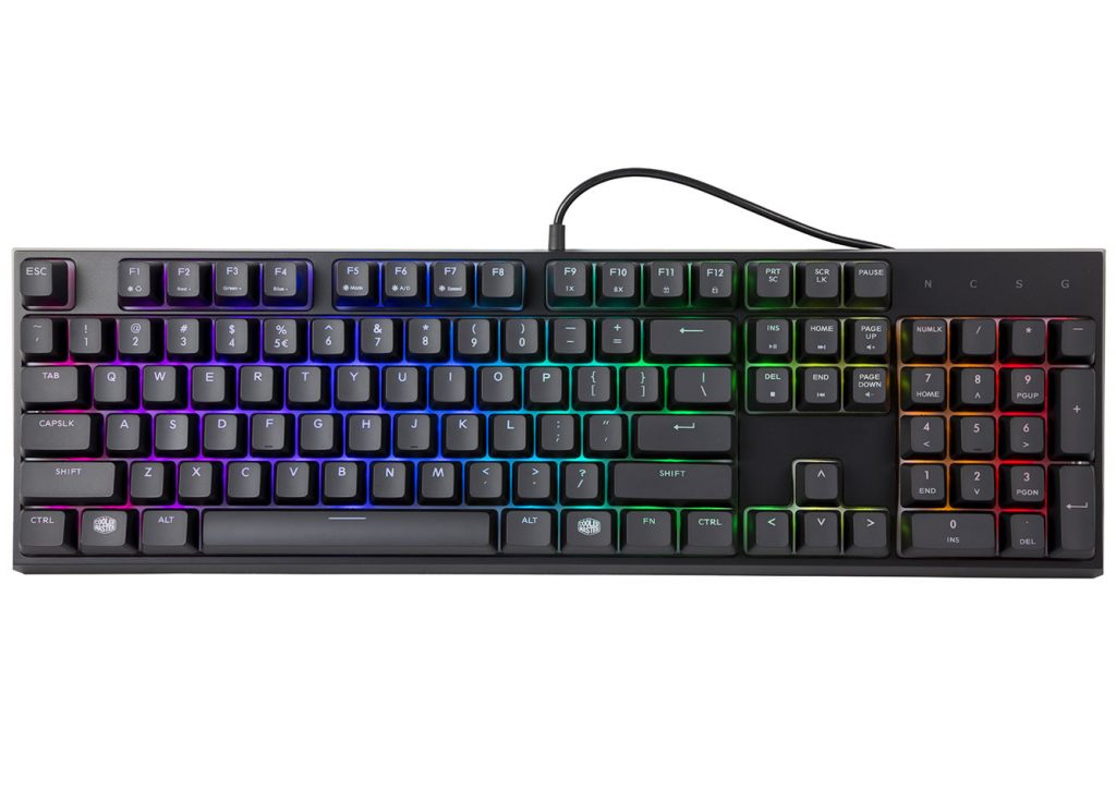 Cooler Master Announces MasterSet MS120 Gaming Keyboard Mouse Combo