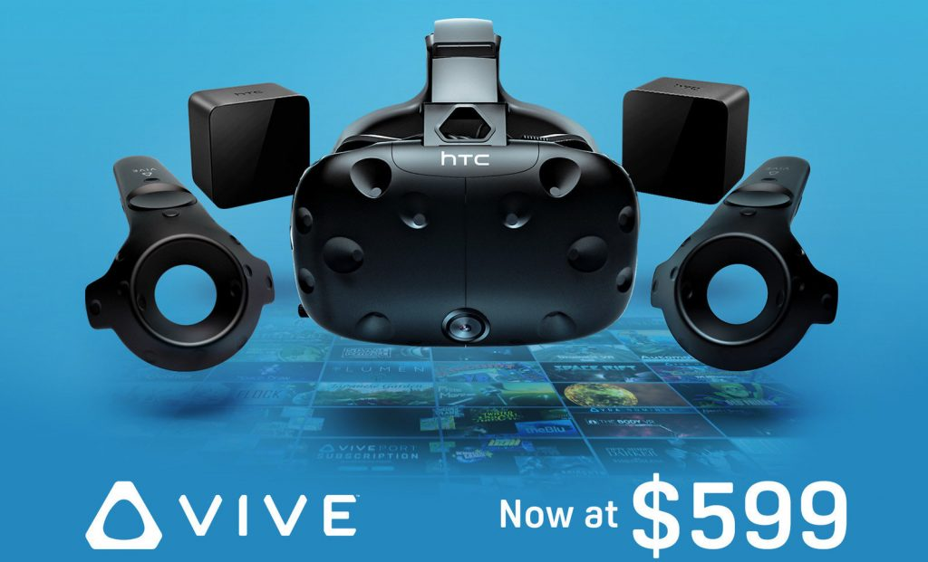 HTC Vive announced a 0 price reduction for Vive
