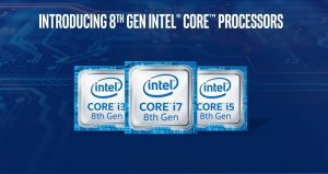 Intel announced its 8th Generation Core processor family, claimed a 40% more performance