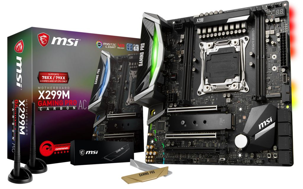 MSI Announces X299M Gaming Pro Carbon AC Motherboard