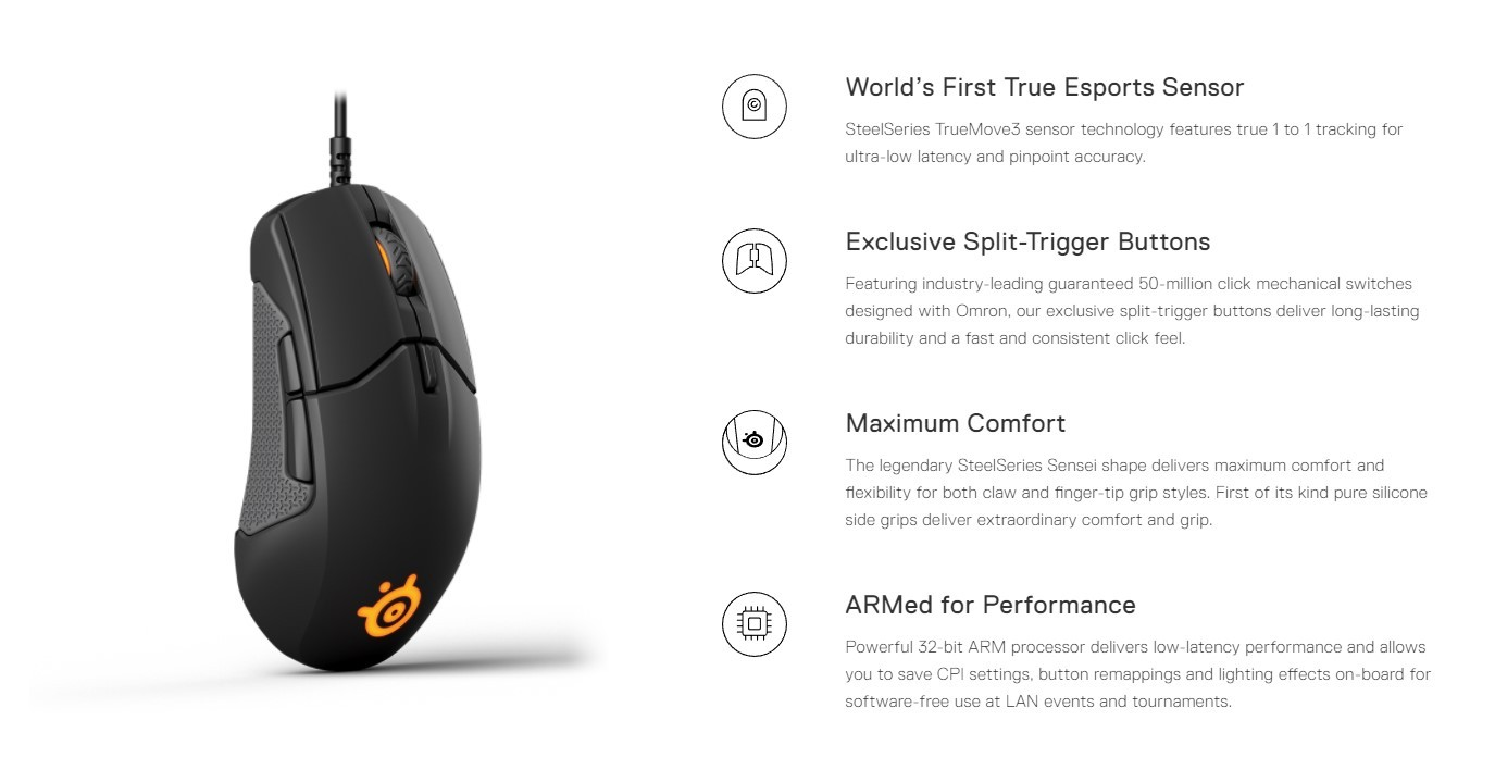 Steelseries Unveils The First True 1 To 1 Esports Gaming Mouse