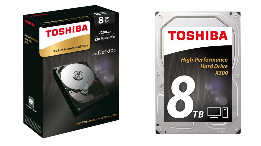 Toshiba Announces X300 8TB Internal 3.5-inch Hard Drive