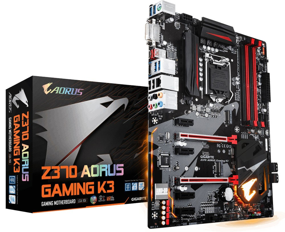 GIGABYTE Introduces Z370 AORUS Gaming Motherboards for 8th Gen Core