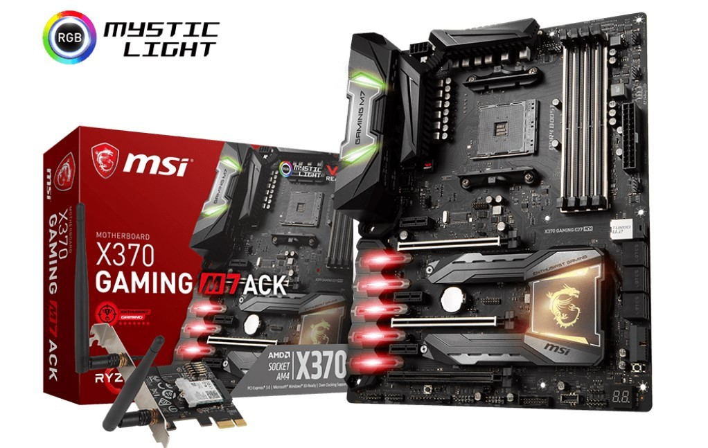 MSI Announces Availability of X370 GAMING M7 ACK Motherboard