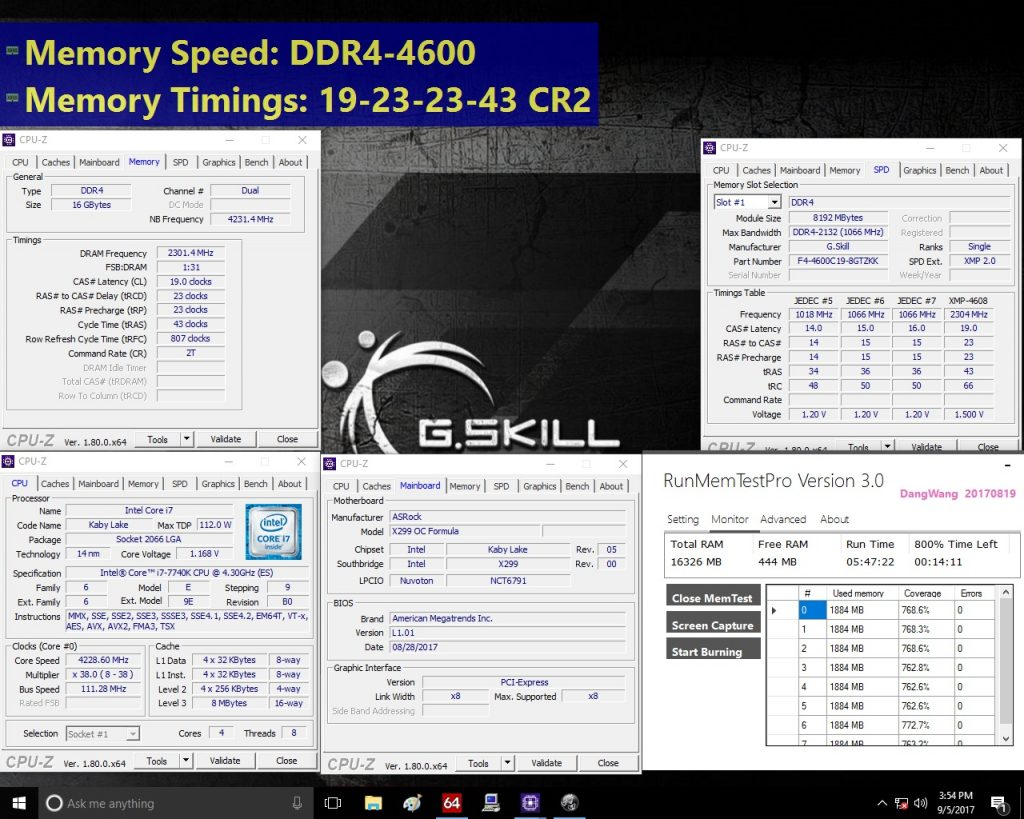 G.SKILL Announces New DDR4-4600MHz Extreme Performance Trident Z Memory Kit Designed for the Intel X299 Platform