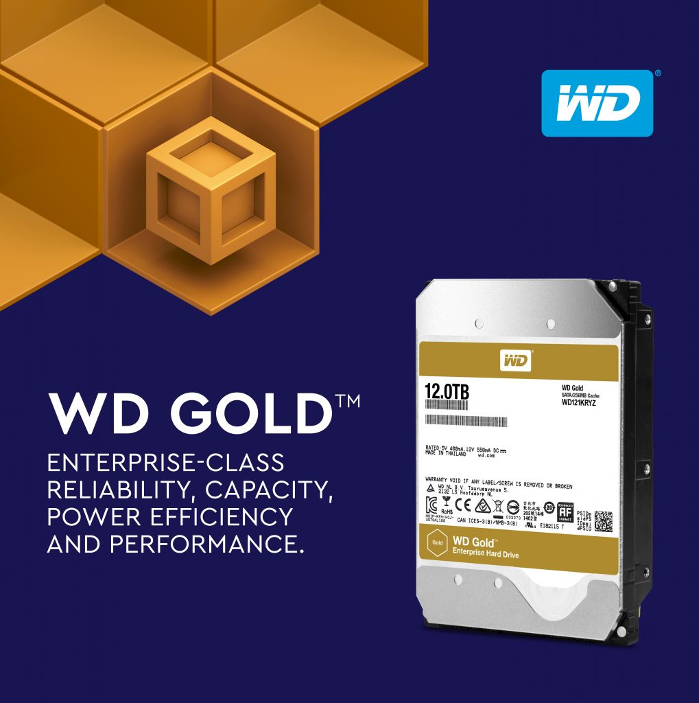 Western Digital 12 TB WD Gold Hard Drives now available