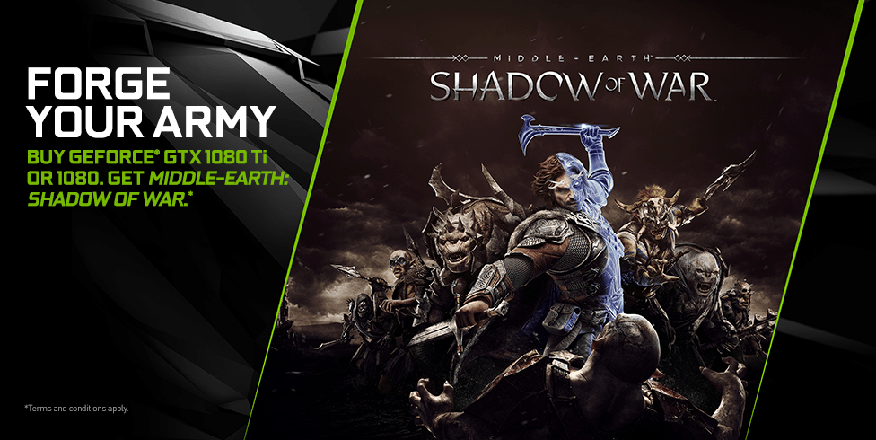 NVIDIA Announces 'Forge Your Army' Bundle - Buy GeForce, Get Middle-earth: Shadow of War