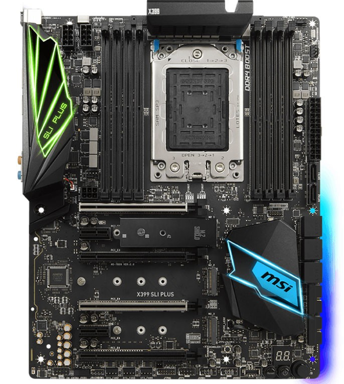 MSI Launches the X399 SLI Plus Motherboard