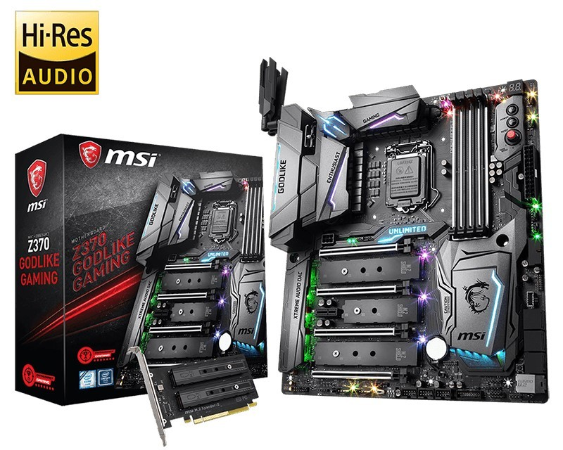 Intel I7-8700k Pushed Over 7.4 GHz on All 6 Cores with MSI's Z370 GODLIKE Gaming Motherboard