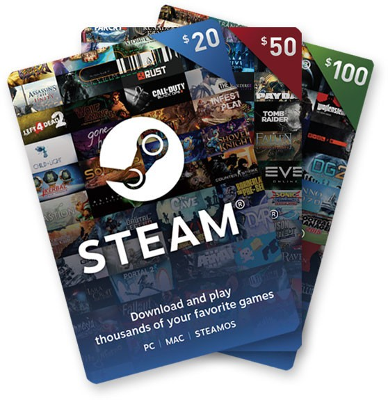 Steam Digital Gift Cards Now Available for Purchase