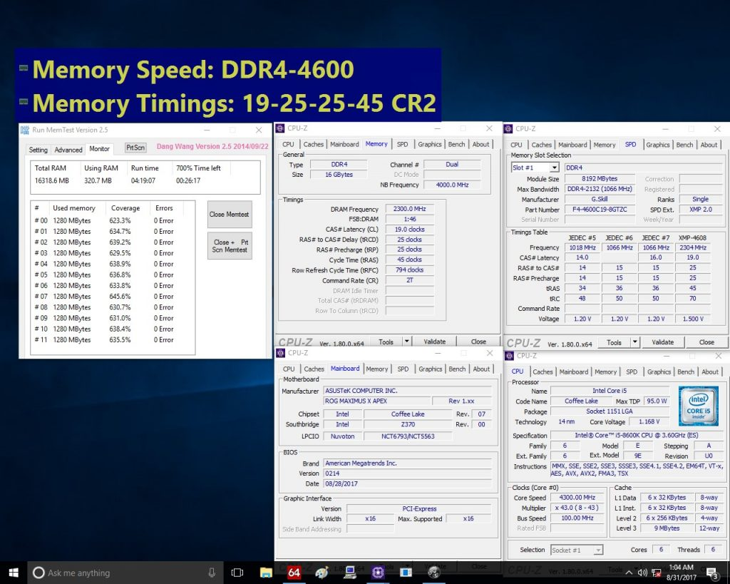 G.SKILL Releases New Extreme DDR4 Specifications for the 8th Gen Intel Core Processor and Z370 Platform