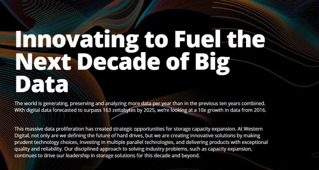 WESTERN DIGITAL Unveils Next-Generation Technology to Preserve and Access the Next Decade of Big Data