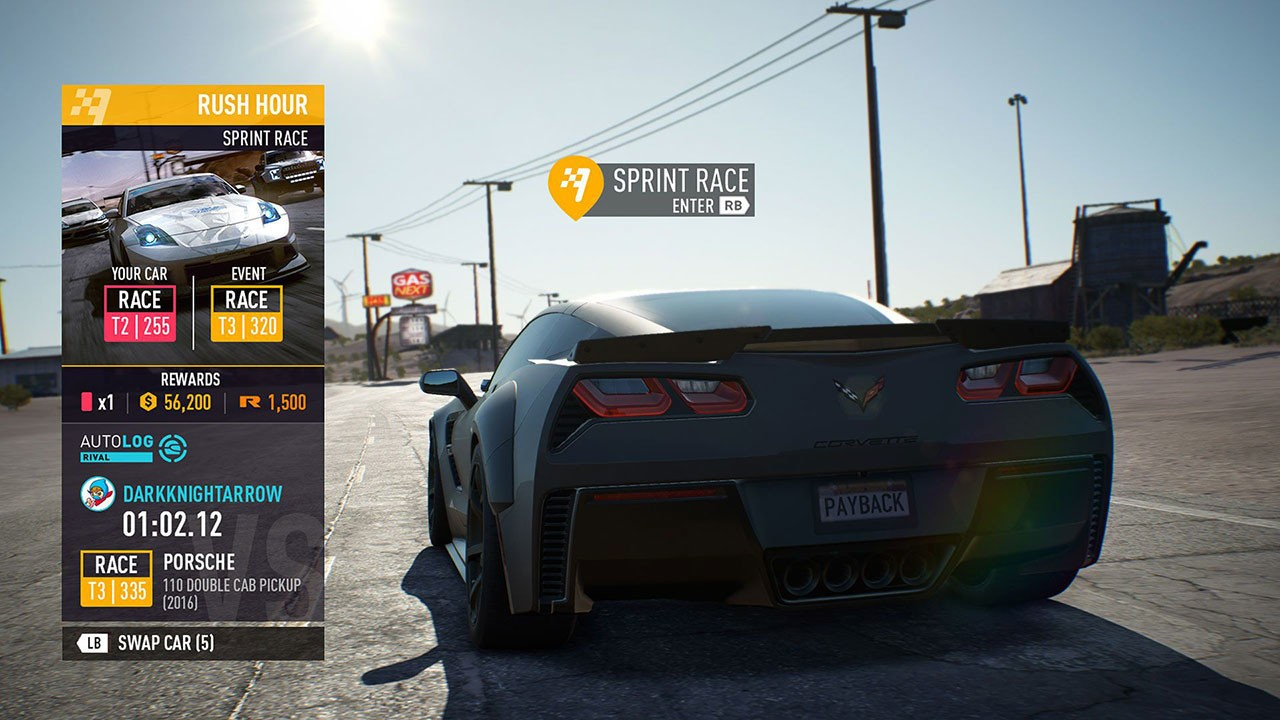 need for speed payback xbox one review