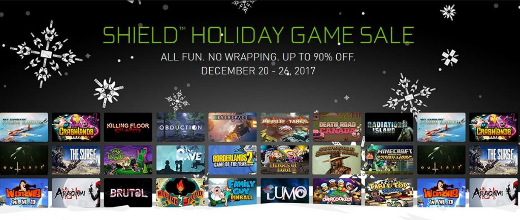 NVIDIA Shield Holiday Game Sale: Save Up to 90% on Games & 20% on a New Shield