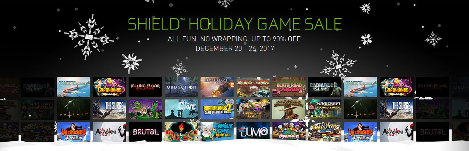 NVIDIA Shield Holiday Game Sale: Save Up to 90% on Games