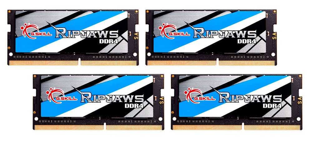 G.SKILL Releases World's Fastest 64GB (4x16GB) SO-DIMM Kit at DDR4-3466MHz CL17-17-17-37