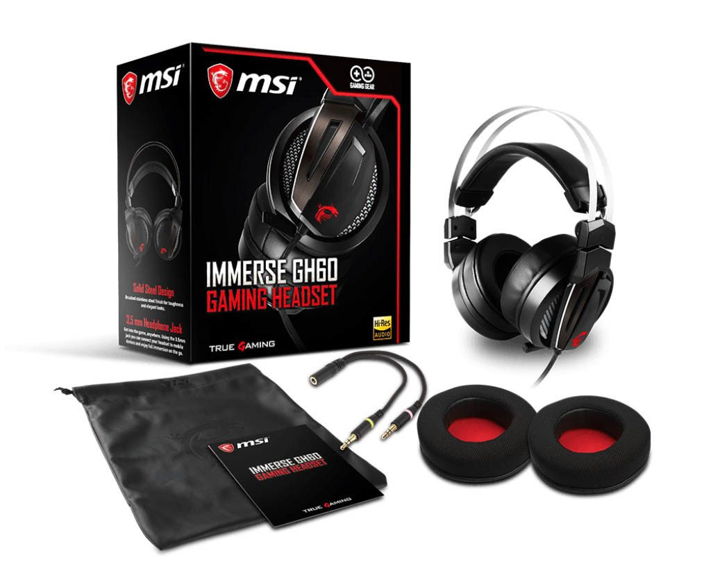 MSI Announces Immerse GH60 GAMING Headset and Vigor GK40 Combo