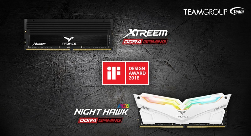 "Teamgroup ""T-Force Xtreem"", ""T-Force Nighthawk RGB"" Win iF Design Awards"