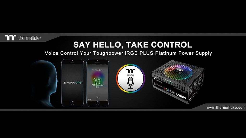 Thermaltake Releases World's First AI Voice Controlled Digital Power Supply