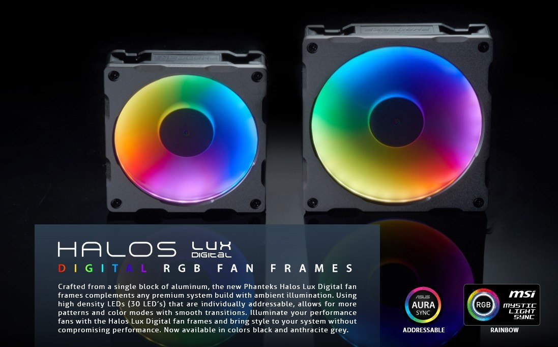 Phanteks Announces New Digital RGB Product line up