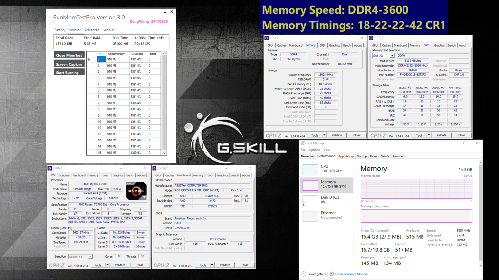 G.SKILL Announces New Specifications for AMD Ryzen™ 2000 Series Processors and X470 Platform Up to DDR4-3600MHz