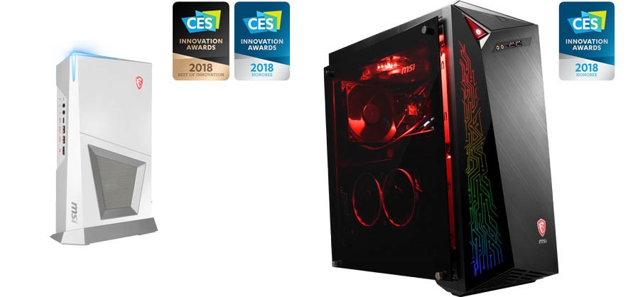 MSI Announces Intel 8th Gen Gaming Desktops with G.A.M.E. Unlimited